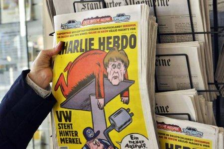 Первый выпуск Charlie Hebdo в ФРГ откровенно высмеял Меркель