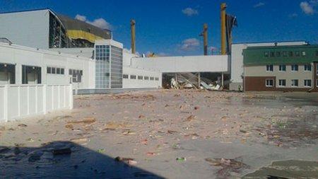 На складе Pepsico в Липецкой области обрушилась крыша: есть пострадавшие