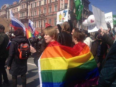В Петербурге задержаны ЛГБТ-активисты, вышедшие на акцию против преследования геев в Чечне