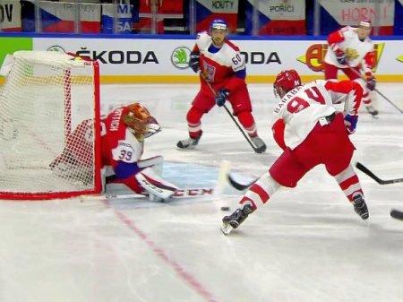 Сборная Чехии по хоккею одержала сокрушительную победу над Белоруссией