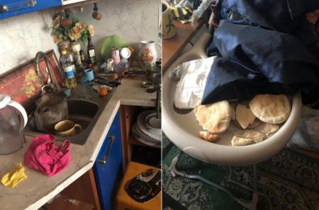 Опубликованы фото из подмосковной квартиры, где нашли четырёх детей-маугли