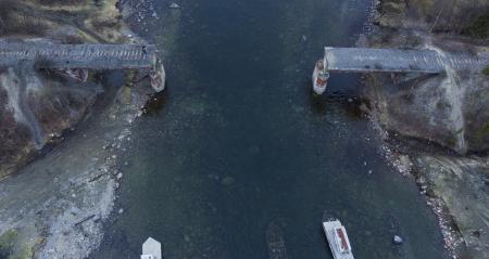 В Мурманской области украли железнодорожный мост через реку