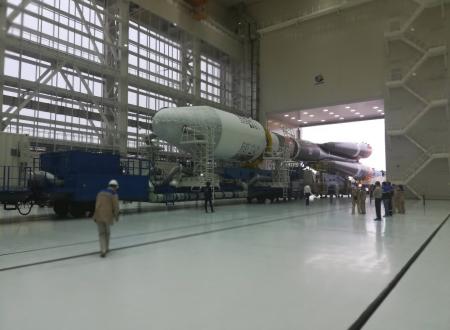 """Ракета """"Союз-2"""" установлена на стартовую позицию космодрома Восточный"""
