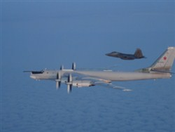 Американские истребители перехватили российские самолеты