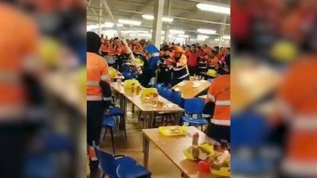 На объекте «Силы Сибири» в Приамурье рабочие устроили массовую драку в столовой