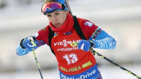 Российская биатлонистка дисквалифицирована на1,5 года