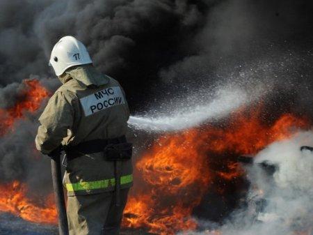 При тушении пожара в частном доме в Омске спасатели нашли два трупа