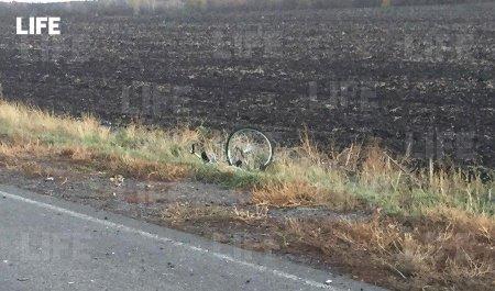 Лайф публикует видео с места гибели трёх велосипедистов под Белгородом