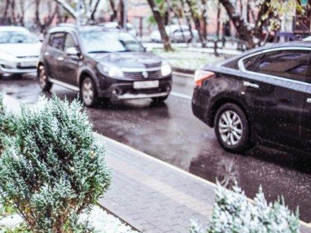 Москвичей предупредили о пробках из-за мокрого снега и гололедицы