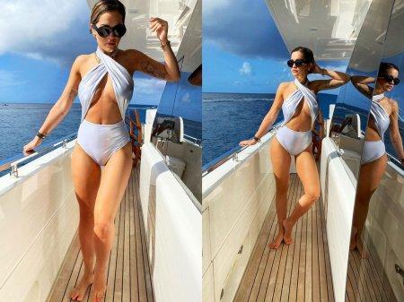 Рита Ора стала приманкой только для рыб, надев на яхту завлекающее бикини