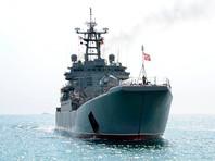 Российский десантный корабль, доставлявший военные грузы в Сирию, получил повреждения