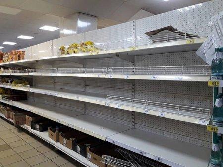 В московском супермаркете появились тележки с заранее собранным «набором паникера» (видео)