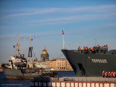 В Петербурге перенесли репетицию парада ко Дню ВМФ