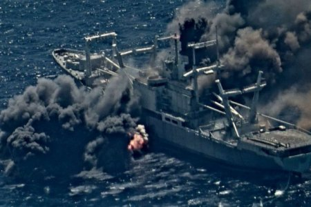 """ВМФ США на учениях не смогли утопить списанный военный корабль """"USS Durham"""""""