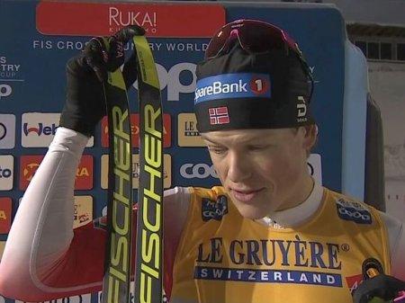 Клебо отобрал «гарантированную» победу у Большунова на лыжном Кубке мира