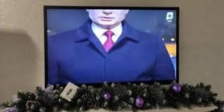 Калининградцам в новогоднюю ночь показали только половину Путина