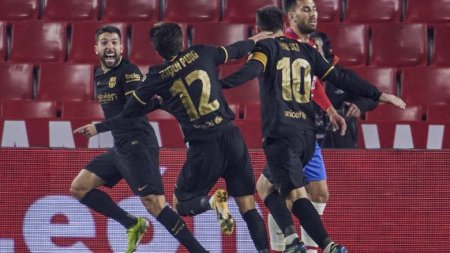 «Барселона» одержала волевую победу в1/4 финала Кубка Испании