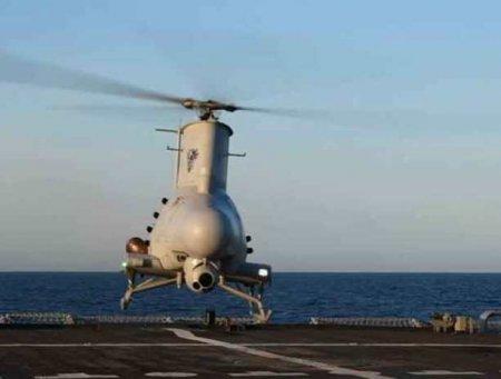 """Беспилотный вертолёт """"Scout"""" протаранил военный корабль США"""