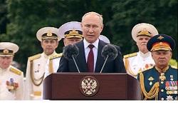 Путин поздравил моряков с Днем ВМФ России