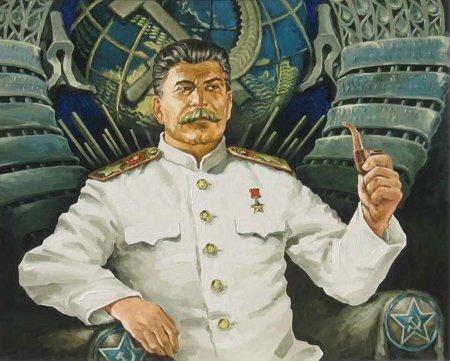 В одной из школ Красноярска День учителя прошел под портретом Сталина