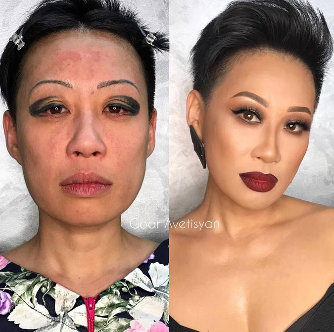Фото шокирующего макияжа