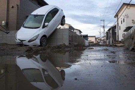 Японские заводы Mazda и Mitsubishi остановились из-за наводнения